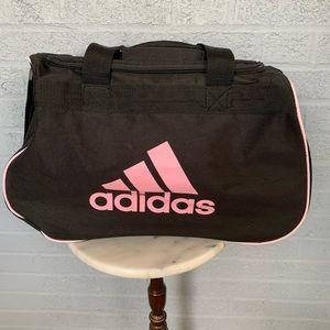 NWOT Adidas black and pink travel duffle bag